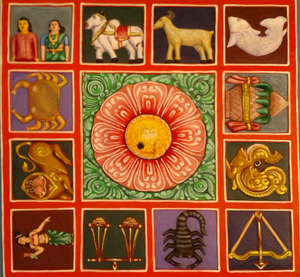 Zodiac_symbols_painted_Relief_on_the_terrace_of_a_Gopuram_at_Kanipakam (1) 2